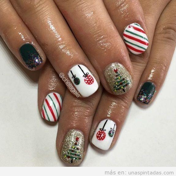 Ideas decoraciones de uñas Navidad 3