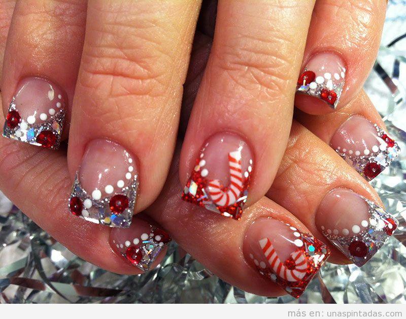 Imágenes decoraciones de uñas navideñas