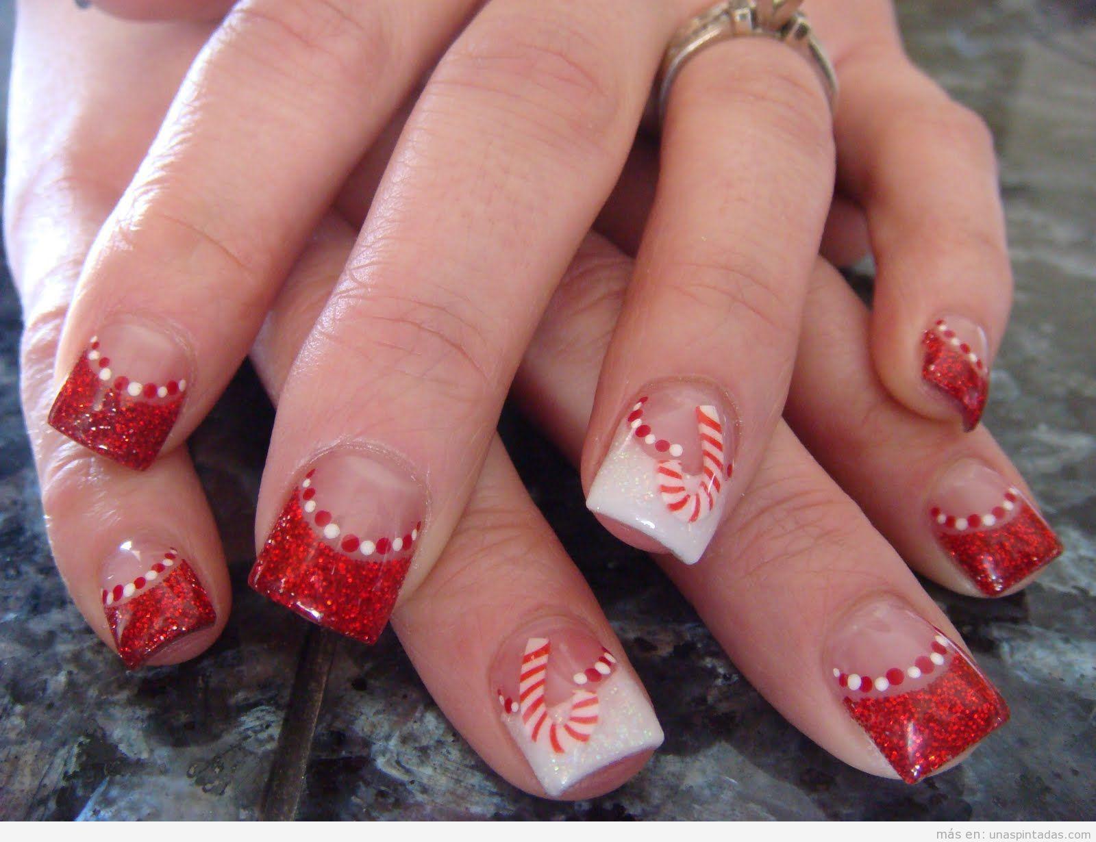 Imágenes decoraciones de uñas navideñas 5