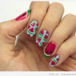 Uñas decoradas con sandías: Pon Todo Su Frescor en Tus Uñas