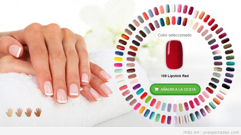 Esmalte uñas permanente Pink Gellac colores