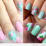 Decoración de uñas vintage: estampados de rosas y de flores
