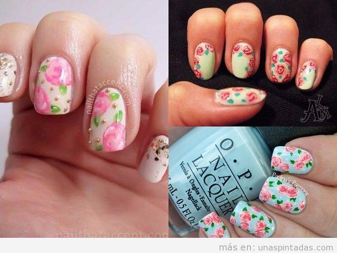 perfect de uas con rosas vintage with decoracion uas rosas - Decoraciones Uas