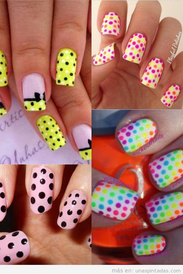 Unas Con Colores Neon Idoneas Para El Verano Y Muy Frescas Unas