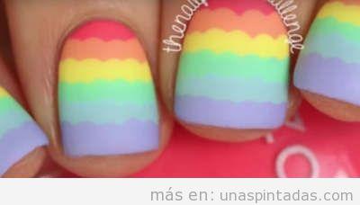 Uñas de arcoiris
