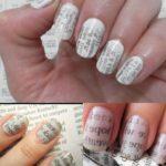 Cómo pintar uñas con papel de periódico: