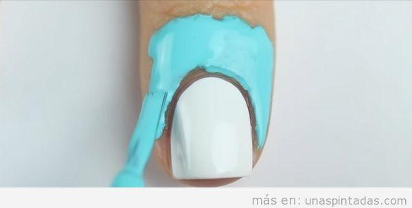 Tutorial decoración de uñas con atardecer, paso 1