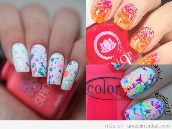 Decoraciones de uñas con salpicaduras: súper DIVERTIDAS de hacer!