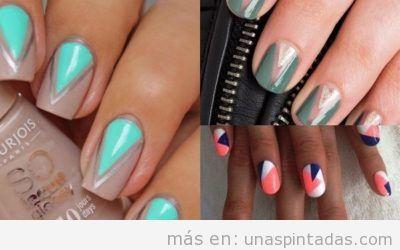Decoraciones de uñas con triángulos: diseños geométricos muy MODERNOS y llenos de color