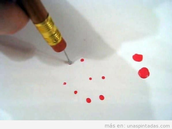 Punteador DIY hecho con alfileres de punta redonda