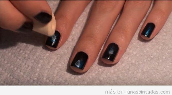 Tutorial decoración de uñas con galaxia, paso 3