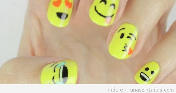 Uñas de emoticonos