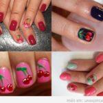Uñas decoradas con cerezas: Bonitas,  Sencillas y Elegantes