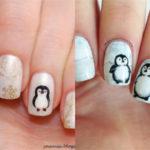 Pinta pingüinos en tus uñas