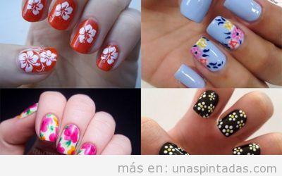 Uñas con flores: Bonitos Diseños Florales Para Tus Uñas
