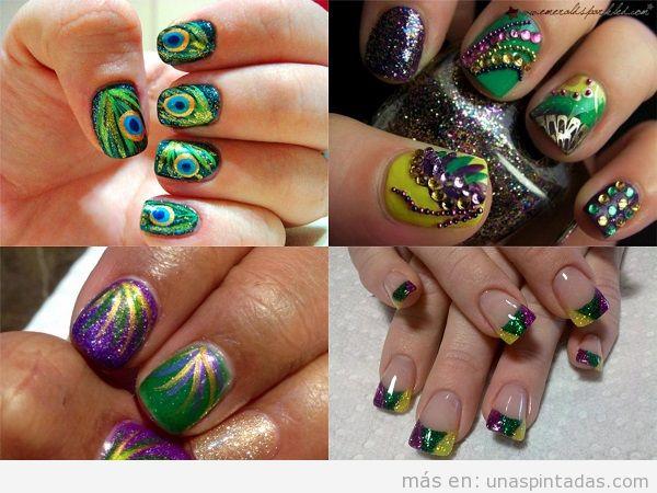 Decoración de uñas de Carnaval de fantasía