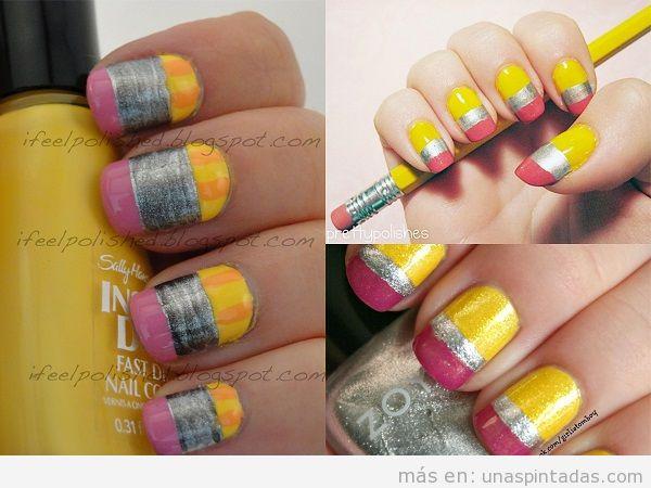 Decoraciones de uñas para la vuelta al cole 3