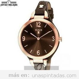 Reloj de mujer negro y oso rosa