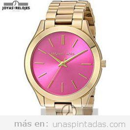 Reloj de mujer rosa y dorado