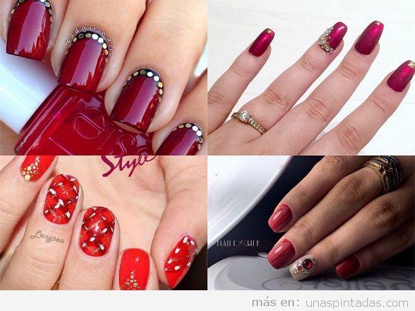 Uñas pintadas para los 15 años color rojo