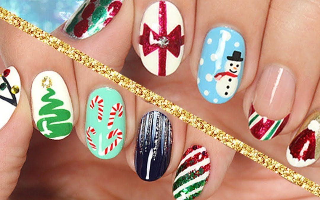 Decoraciones de uñas Navidad 2017, 10 diseños paso a paso