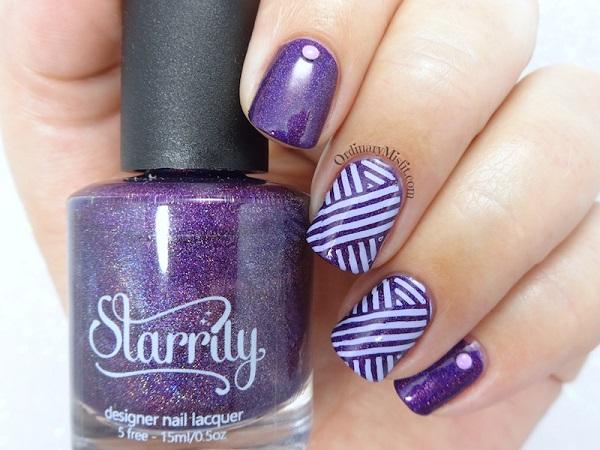 9 Uñas pintadas color Ultra Violet, Pantone año 2018