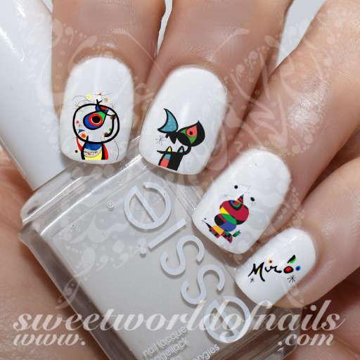 Diseño uñas surrealistas Miró 3
