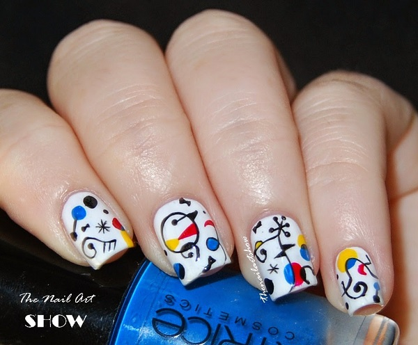 Diseño uñas surrealistas Miró