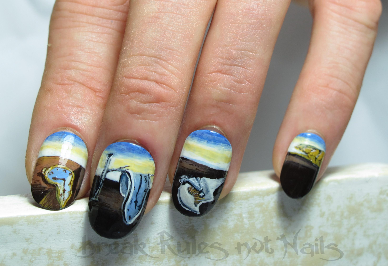 Diseño uñas surrealistas Dalí