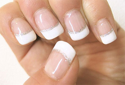 Decoración de uñas de gel francesas 8