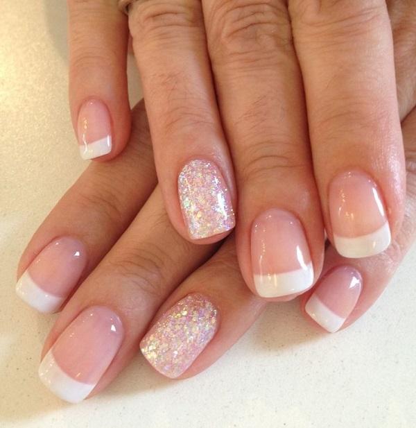 Decoración de uñas de gel francesas 6