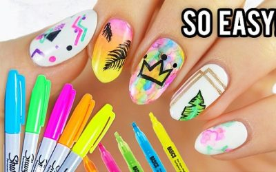 Decoraciones de uñas utilizando rotuladores Sharpie: Fáciles y Bonitas
