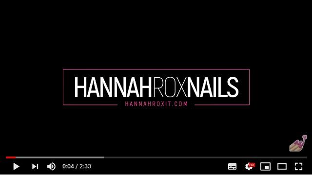Logo Hannah Rox Nails animado